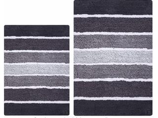 Ramanta  2 Piece Set  Stripe Bath Rug Set  Antiskid