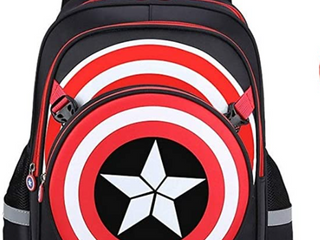 Captain America Backpack with Reflectors