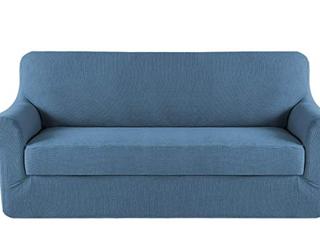 H  Versailtex  Stretch Furniture Cover  Chair  Blue