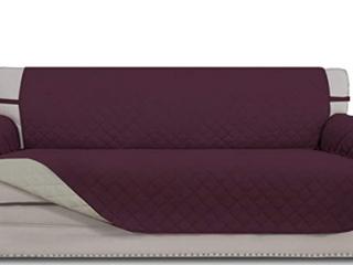 Easy Going 4 Seatwr Sofa  Reversible Sofa Cover  Wine Beige