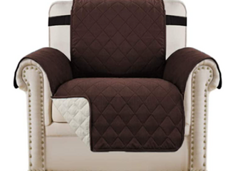 H  Versailtex  Reversible Chair Cover   Brown