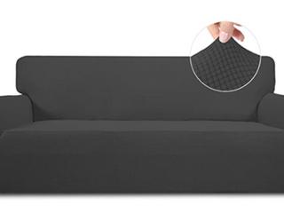 Easy Going Stretch Slipcover   Dark Gray   Sofa