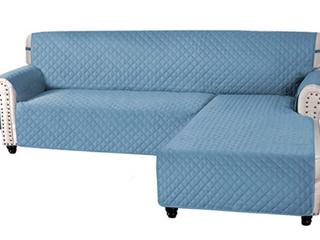 H  Versailtex  Reversible l Shaped Sofa Cover   Medium   Blue