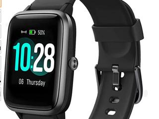 lintelek Smart Watch Fitness Tracker ID205l Black