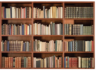 Bookshelf Background Photo Studio Prop CP 49