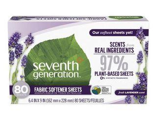 Seventh Generation Fresh lavender Fabric Softener Sheets  80 sheets