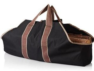 Fireplace Firewood Tote   Black