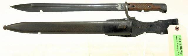 Waffenfabrik Mauser Oberndorf Bayonet