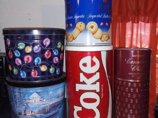 Coke and Other Empty Tins