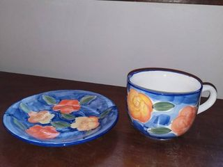Alacarte JC Penny Styles for the Home Big Coffee Cup or Bowl with Plate