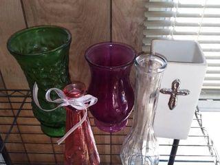 lot of 5 Flower Vases