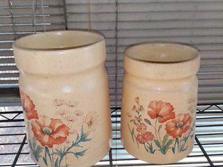 lot of 2 Ceramic Flower Vases