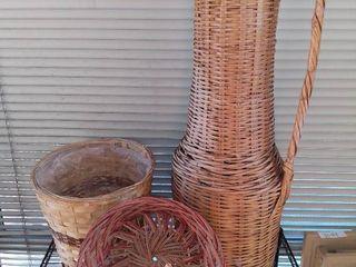lot of 3 Wicker Baskets
