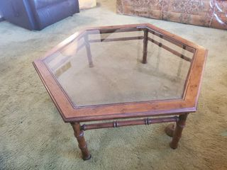 Hexagon MCM Wooden Coffee Table