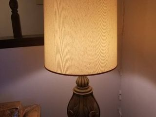 large Wooden lamp with lamp Shade