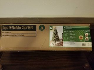 Four Foot Indiana Spruce With 150 Clear lights  Tree Stand Included