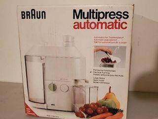 Braun Multipress Automatic