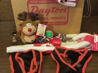 Assorted Dog Toys Clothes Equipment