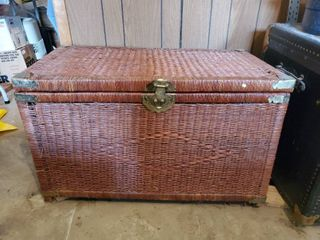 Red Wicker Hope Chest