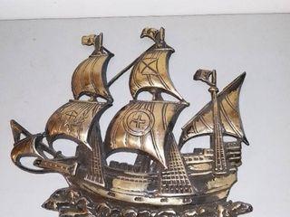 Metal Wall Hanging Depicting Spanish Ship