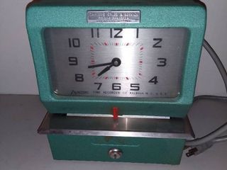 Carter s Sales and Service Kansas City Missouri Vintage Punch Clock
