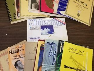 White Wings Paper Plane Kit  lot of Assorted Music Books