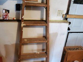 Model 120 6ft Wooden Painters ladder
