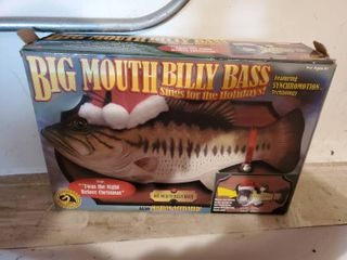 Billy Big Mouth Bass Sings For The Holidays Motion Activated Twas The Night