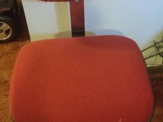 Red Rolling Office Chair  In Good Condition  Sturdy