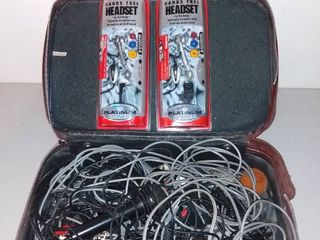 Mega lot of Micelanious Chords with Microphones in a leather Case