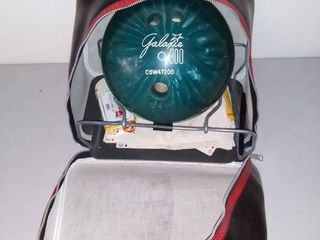 Galaxie 300 Bowling Ball with leather Bowling Bag Weight of Ball is Unknown