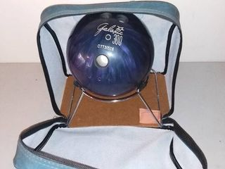 Galaxie 300 Bowling Ball with Blue leather Brunswick Bowling Ball Bag