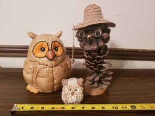 lot of Assorted Owl Decor