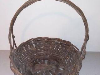 Giant Medium Brown Wicker Basket with Handle