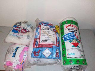 lot of 4 Bags of Premium Polyester Fiber Fil and Batting