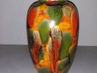 Homemade 1974 Hand Painted and Fired Ceramic Vase