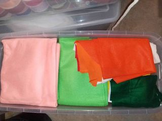 Mega lot of Various Colors of Felt Fabrics