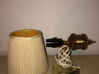 Wall Hanging lamp with Creme Shade Not Tested location Master Bedroom