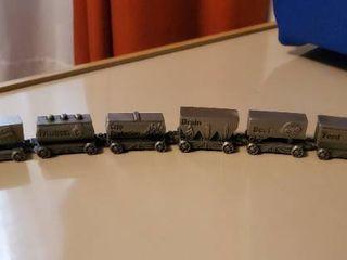 Small FARMlAND Metal Train  Includes 8 Pieces