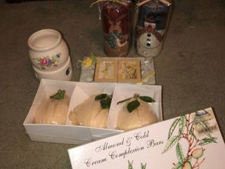 lot of Candles and Soaps with Ceramic Candle Warmer location Spare Bedroom One