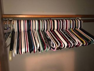 Mega lot of Plastic Hangers 50  location Spare Bedroom Two