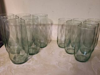 lot of 12 Glasses  2 Sizes  Twisted look