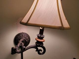 Corded Wall Hanging light with Iron Frame  Tested and Working