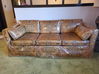 Distinctive Furniture by Waters Retro Bought in 1973 Completely Wrapped in Plastic   Mint Condition   Blended Cotton Felt