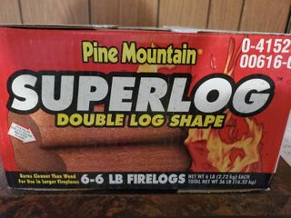 Pine Mountain Super log  Double log Shape  Fire logs  Box Contains 6 weighing 6 lBS