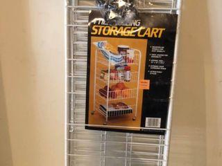4 Tier Rolling Storage Cart Factory Plastic Still Intact location Storage Room