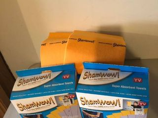 lot of 3 Boxes of Shamwow  Super Absorbent Towels location Storage Room