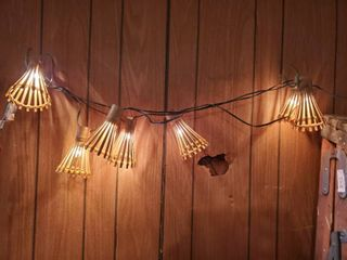 String light with Wooden Covers  7 lights