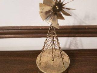 Metal Windmill Music Box