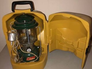 Coleman lantern with Plastic Carrying Case Unknown Condition location Storage Room